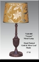 """Jeanne Reed's - Metal Lamp """"Verona"""" - gold/silver leaf painted shade"""