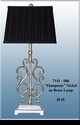 """Jeanne Reed's - """"Hamptons Brass Lamp with Nickel Finish"""