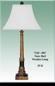 Jeanne Reed's - Wood Lamp (faux burl) - cream shade