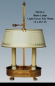 Jeanne Reed's - Brass Lamp with Light Green Tole Shade