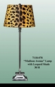 """Jeanne Reed's - """"Madison Avenue"""" Lamp with Leopard Shade"""