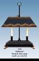 """Jeanne Reed's - """"Jefferson"""" Wood Base with Tole Shade Lamp"""