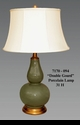 """Jeanne Reed's - """"Double Gourd"""" Porcelain Lamp"""