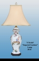 """Jeanne Reed's - """"Imperial Gardens"""" Porcelain Lamp"""