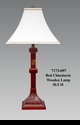 Jeanne Reed's - Red Chinoiserie Wooden Lamp