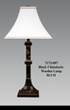 Jeanne Reed's - Black Chinoiserie Wooden Lamp