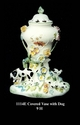 Jeanne Reed's - Covered Vase w/dog