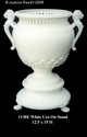 Jeanne Reed's - White Urn on Stand