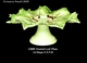 Jeanne Reed's - Footed Plate - (leaves)