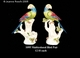 Jeanne Reed's - Multicolored Bird Pair
