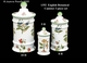 """Jeanne Reed's - 3 pc Canister Set """"English Botanical"""""""