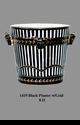 Jeanne Reed's - Planter Black w/gold handles