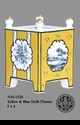 Jeanne Reed's - Yellow & Blue Delft Planter