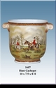 """Jeanne Reed's - """"Hunt"""" Cachepot"""