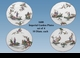"""Jeanne Reed's - """"Imperial Garden"""" Plates - Set of 4"""