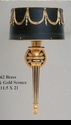 Jeanne Reed's - Sconce - black & gold w/ormolu