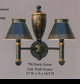 Jeanne Reed's - Tole Sconce (dark green)
