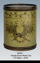Jeanne Reed's - French Green Tole Waste Can