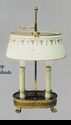 Jeanne Reed's - Brass Lamp/tole shade - light green