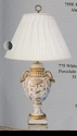 Jeanne Reed's - Porcelain Urn Lamp (white & gold)