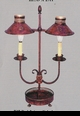 Jeanne Reed's - 2 Arm Lamp - red