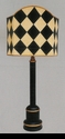 "Jeanne Reed's - 1/2 Shade Lamp ""harlequin"""