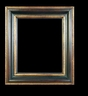 Art - Picture Frames - Oil Paintings & Watercolors - Frame Style #620 - 12x16 - Black & Gold - Black & Gold Frames