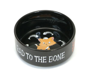 Harley-Davidson® Ceramic Cat Bowl