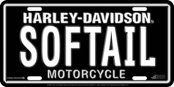 Harley-Davidson SOFTAIL  Stamped Metal License Plate