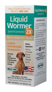 Puppies and Adult Dogs Liquid Wormer 2X  2oz