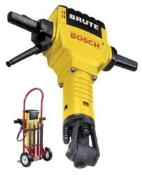 Bosch Brute Breaker Hammer with Cart and 5 Bits