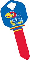University of Kansas Jayhawks KW1 Key Blank