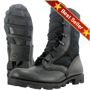 Wellco B130 Black Jungle Combat Boot - Free Shipping