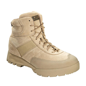 5 11 Advance 6 Inch Desert Tan Side Zip Tactical Boot