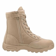 Original SWAT 1152 Classic 9 Inch Tan Side Zip Tactical Boot
