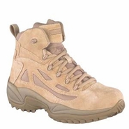 Reebok RB8695 Men's Rapid Response Side Zip Tan 6in Desert Boot