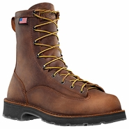 Danner 15550 Bull Run 8in Brown Plain Toe Work Boot