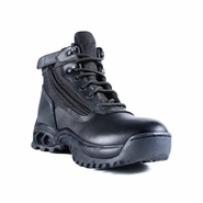 Ridge Men's Mid Side Zip Black Tactical Uniform Boot 8003