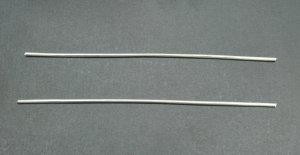 "Pure Silver Wire 9999 10 Gauge 4"" - 2 Pieces"