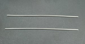 """Pure Silver Wire 9999 10 Gauge 6"""" - 2 Pieces"""