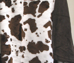 Brown Cow Pattern Throw Blanket