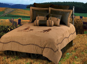 Team Roping Comforter Bed Set