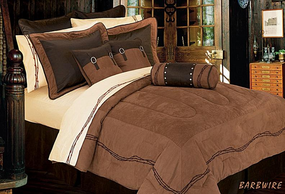 Embroidered Barbwire Comforter Bed Set