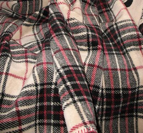 Cashew Plaid Throw Blanket
