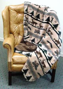 Deer Haven Throw Blanket