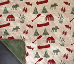 Moose Camp Throw Blanket