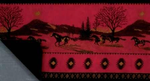 Red Running Horses Throw Blanket