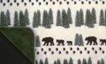 Pearl Denali Bear Throw Blanket
