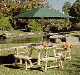 5-Piece Round Umbrella Table Group