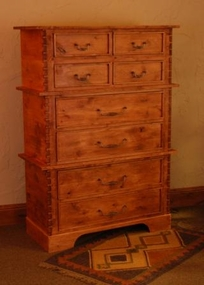 Rustic Alder 8 Drawer Chest